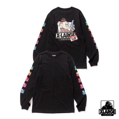 XLARGE LS TEE RAINBOW KEITH長袖T恤-黑