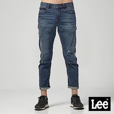 Lee 中腰標準3D牛仔褲-中藍