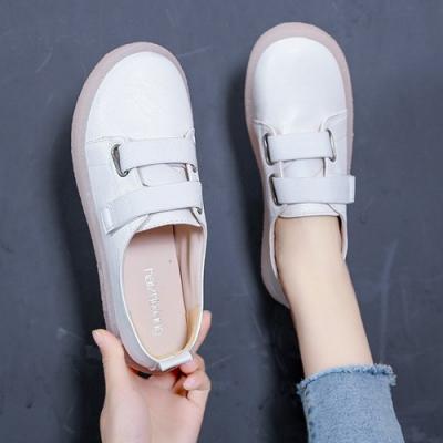 韓國KW美鞋館 俏皮輕甜女孩方便小白鞋-白