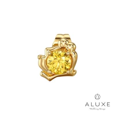 ALUXE亞立詩 小熊維尼 The Pooh系列10K黃水晶石耳環(單只)
