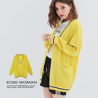 【KOMI】 粉彩防曬拉鍊人絲棉外套