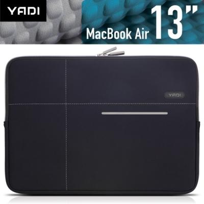 YADI MacBook Air 13吋專用內袋_抗衝擊_防震機能_星夜黑