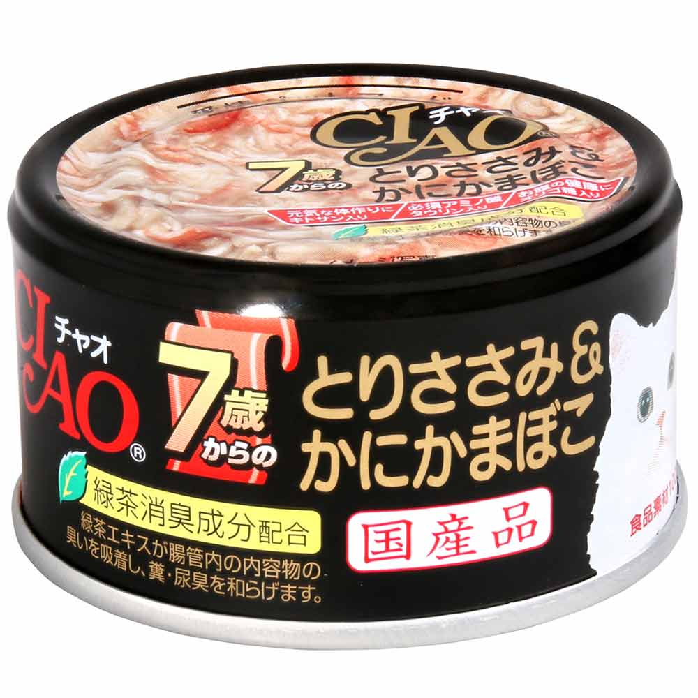 CIAO 旨定罐 7歲 31號 ((雞肉+蟹肉) 75g 24罐組