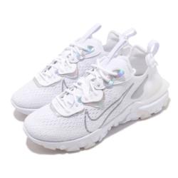 Nike 休閒鞋 React Vision 運動 女鞋 輕量 舒適 避震 簡約 球鞋 穿搭 白 灰 CW0730100