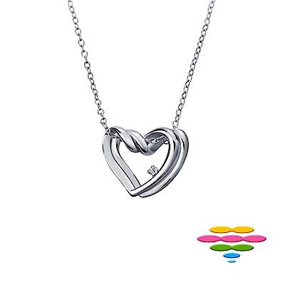 彩糖鑽工坊 愛心鑽石項鍊 雙心項鍊