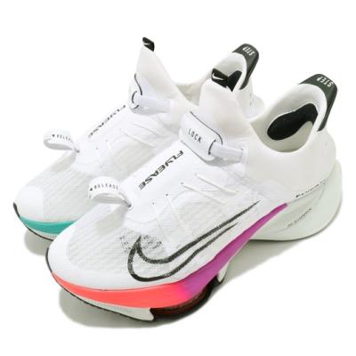 Nike 慢跑鞋 Tempo NEXT Flyease 男鞋 襪套 氣墊 避震 路跑 拉環束帶 運動 白 彩 CV1889102