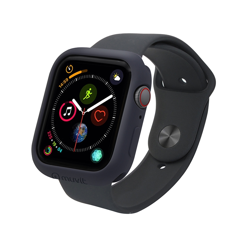 MUVIT Apple Watch Series4 (44mm) 耐衝擊保護殼-黑色