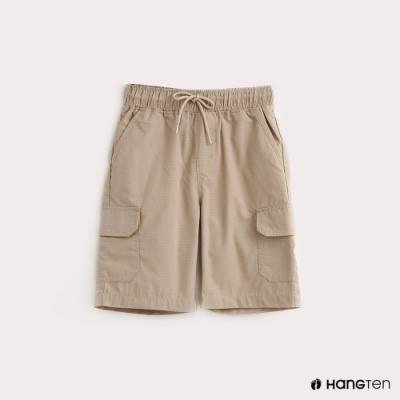 Hang Ten-ThermoContro-童裝鬆緊綁帶機能短褲-卡其