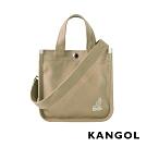 KANGOL 韓版極簡玩色-MINI帆布斜背小方包-卡其AKG1215