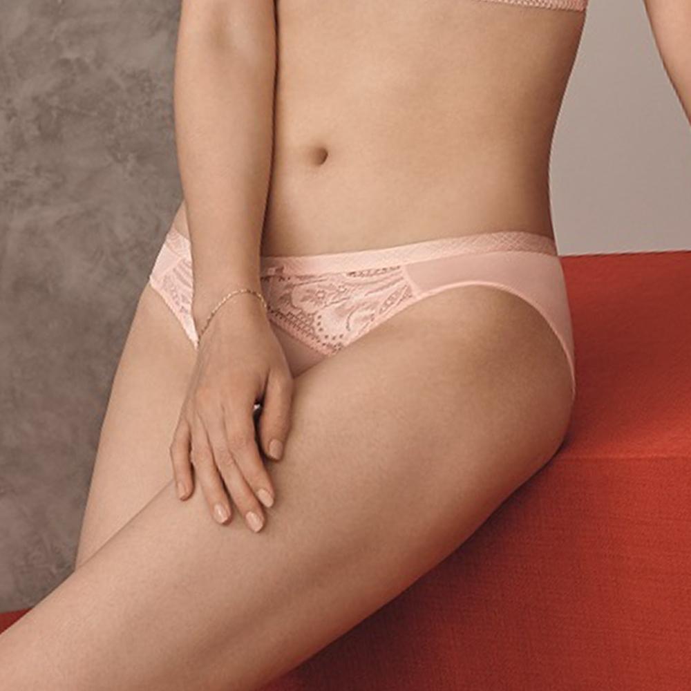 黛安芬-奇幻水感動系列 超細纖維低腰三角內褲 M-EL 珍珠粉