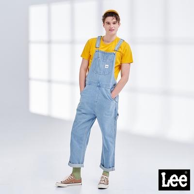 Lee  連身工作褲 牛仔吊帶長褲 男款 淺藍色