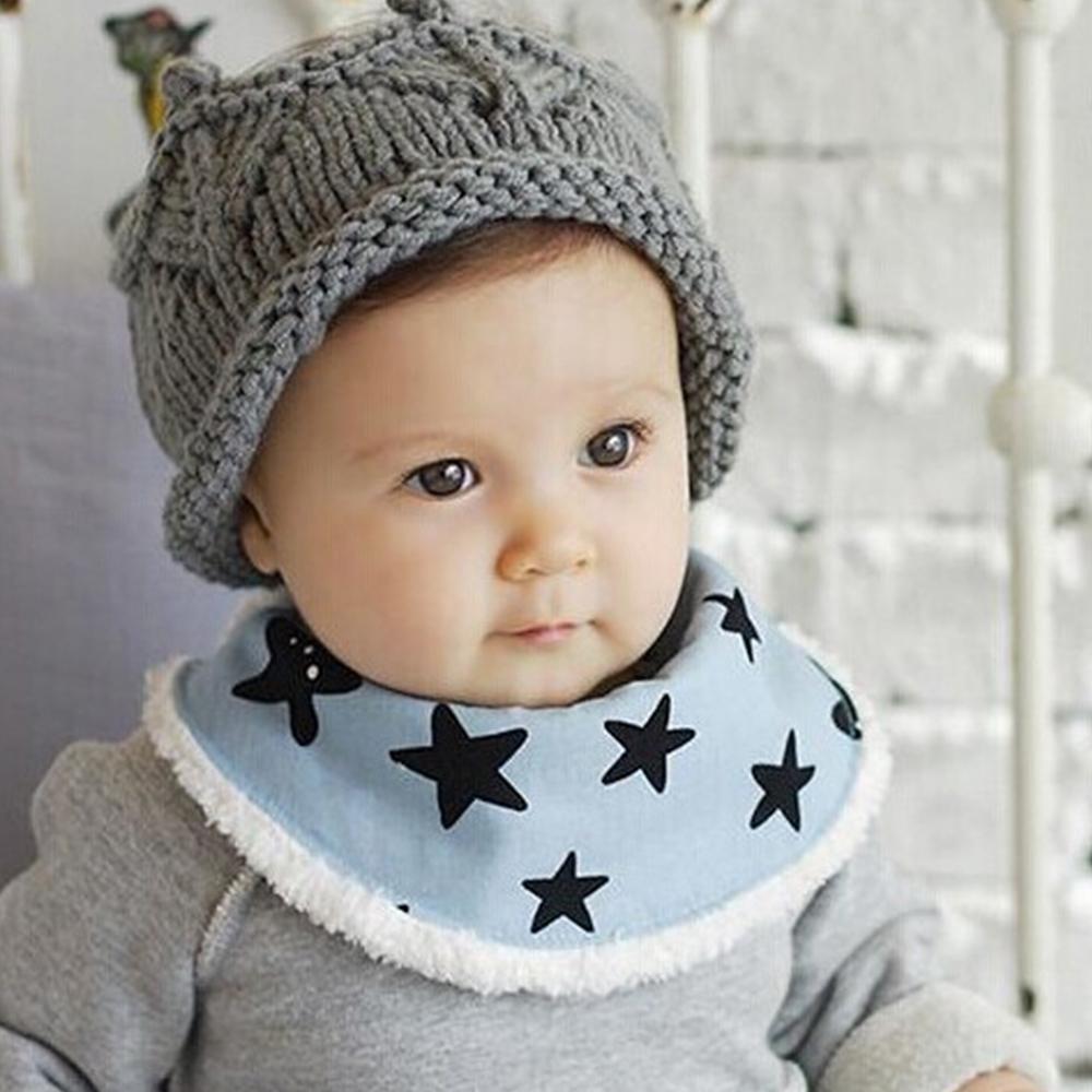 【QBabe】Q版寶寶可愛秋冬保暖半圓加絨圍巾 口水巾-3件組 @ Y!購物