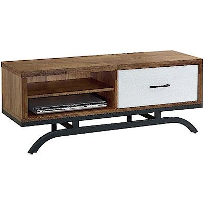 綠活居 帕迪時尚4尺木紋電視櫃/視聽櫃-119.5x39.5x49cm免組