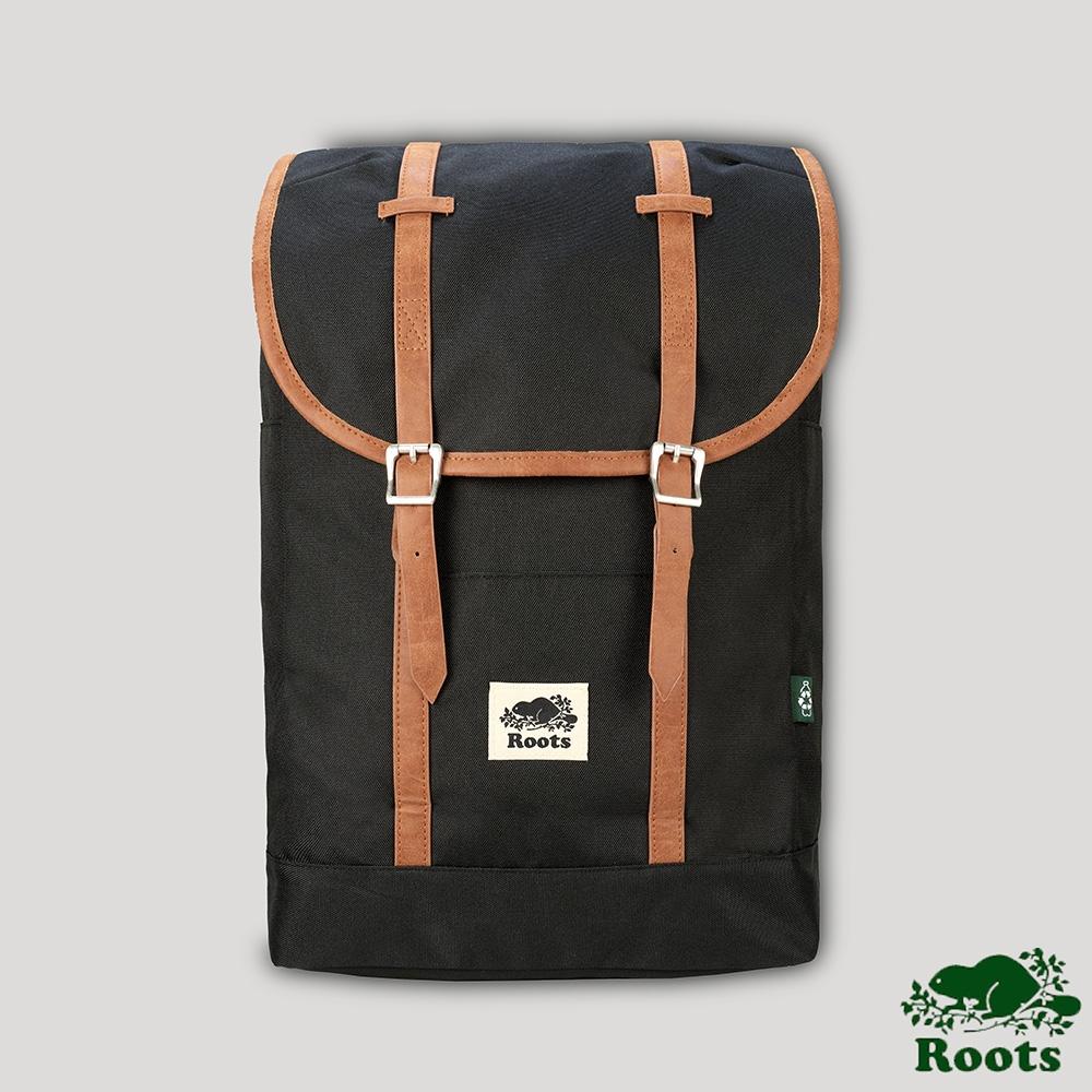 Roots包包- 筆電夾層後背包-黑色