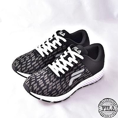【FILA】男款透氣網布慢跑鞋1-J908Q-001