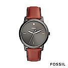 FOSSIL MINIMALIST 簡約設計中性錶-黑底紅錶帶
