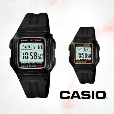 CASIO卡西歐 酷炫方形運動電子錶(F-201WA)