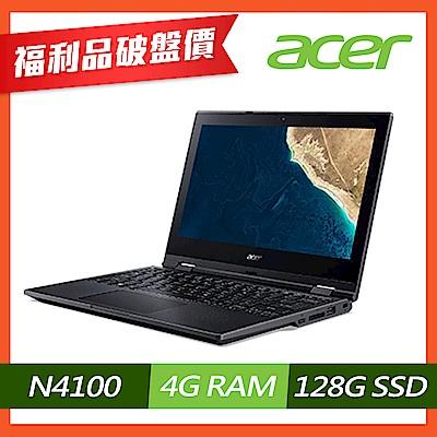 (福利品)Acer TMB118-G2-RN-C3ZZ 11吋商用筆電(N4100/4G/128G SSD/黑)