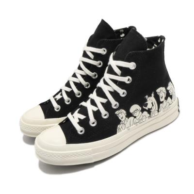 Converse 休閒鞋 All Star 高筒 聯名 男女鞋 史酷比 卡通 電繡 三星 情侶穿搭 黑 白 169082C
