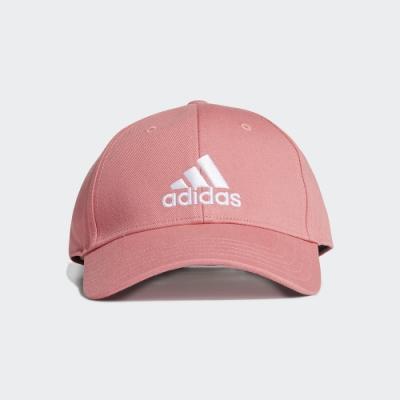 ADIDAS 帽子 棒球帽 老帽 遮陽帽 男女款 粉 GM6272 BBALL CAP COT