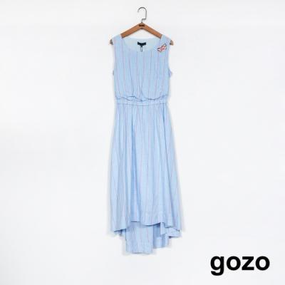 gozo-女孩游泳中小露腰洋裝-三色