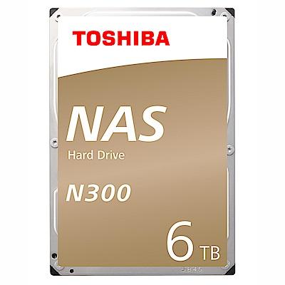Toshiba N300 3.5吋 6TB 7200RPM/128MB NAS硬碟