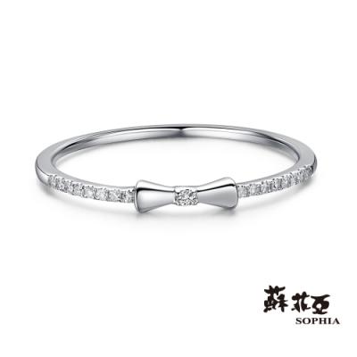 蘇菲亞SOPHIA - 小蝴蝶鑽石線戒