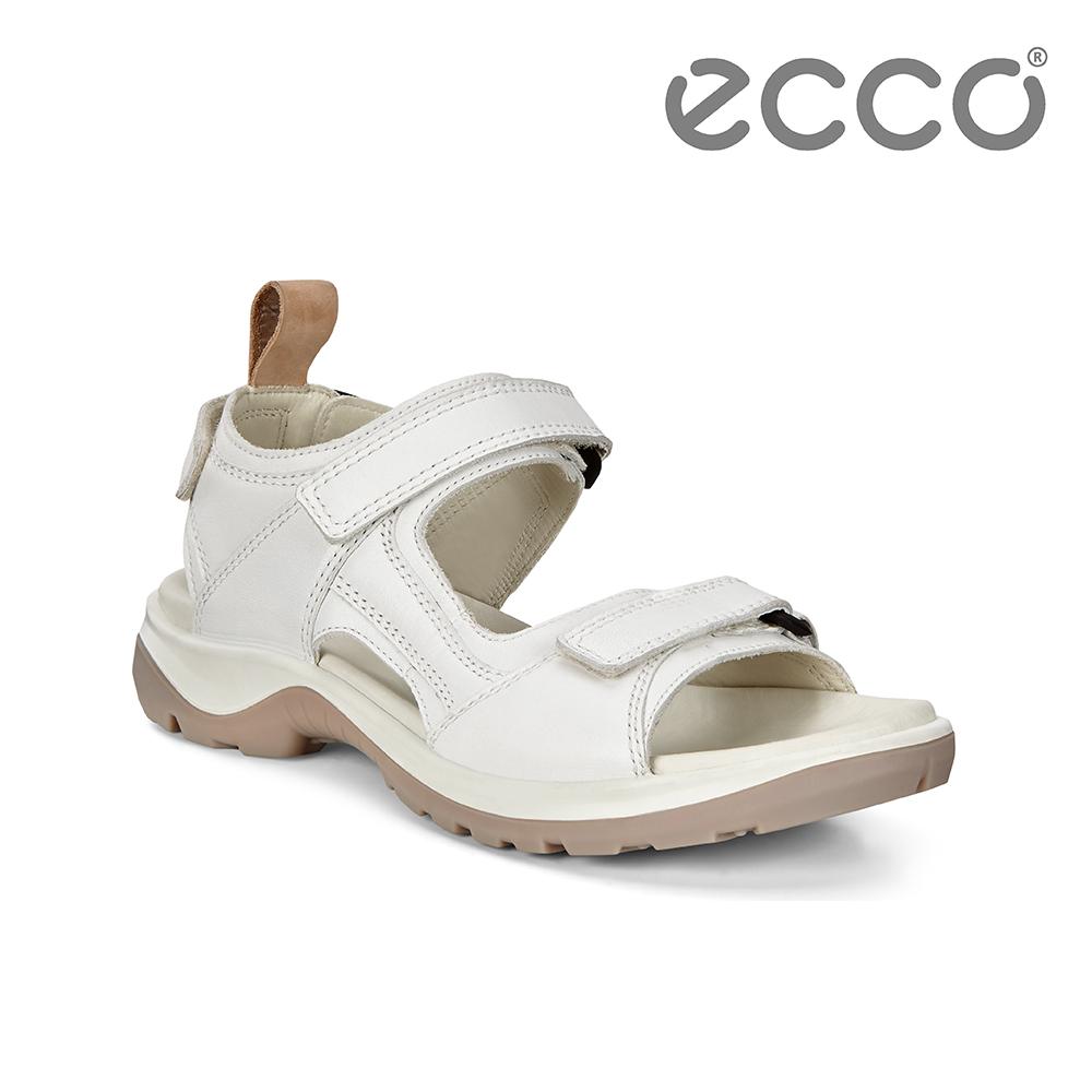 ECCO OFFROAD 越野單色戶外運動涼鞋 女-白