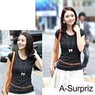 A-Surpriz 知性時尚編織細版腰帶(駝咖)