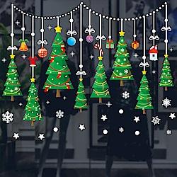 半島良品 聖誕壁貼-串串聖誕樹 XH6255 45x60cm