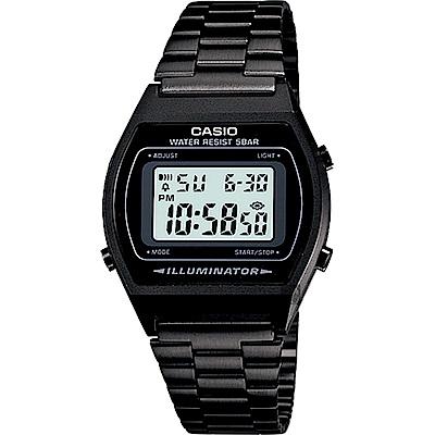 CASIO 卡西歐 經典標準電子錶-黑(B-640WB-1A)