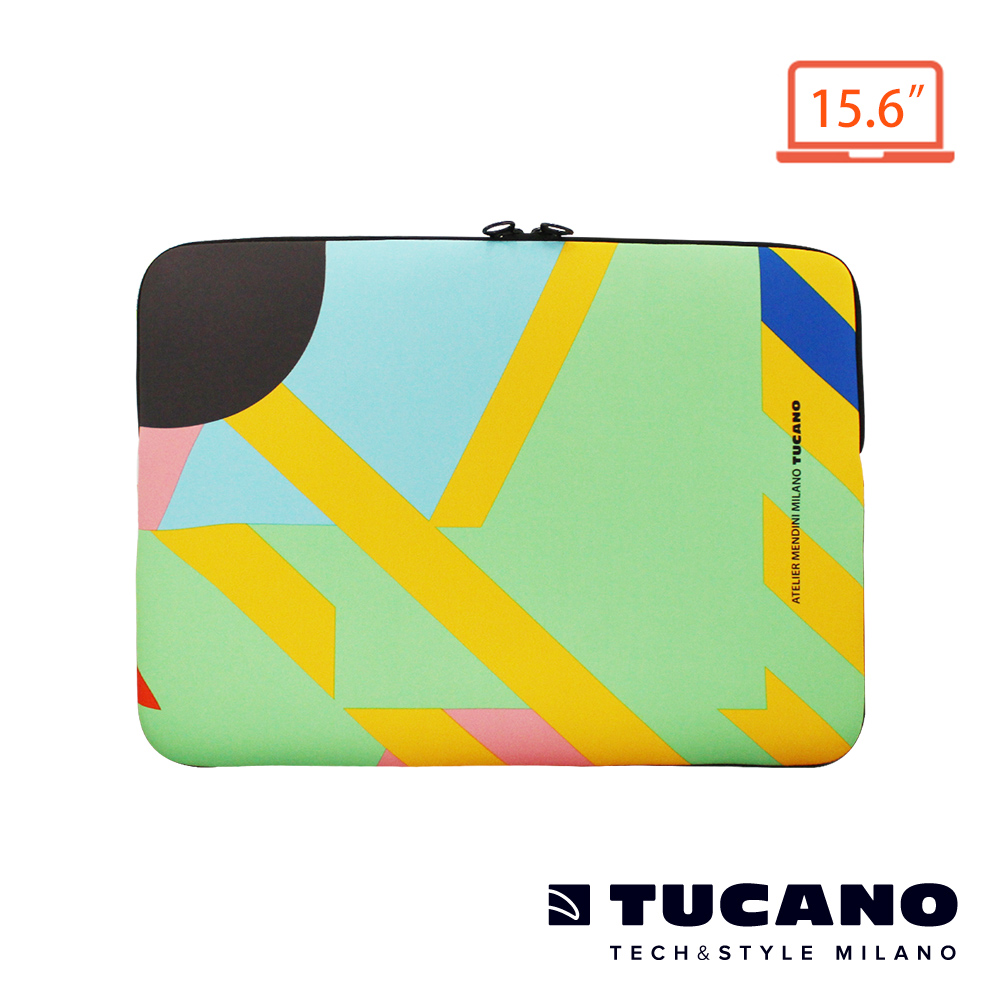 TUCANO X MENDINI 時尚設計筆電包15.6吋-繽紛幾何
