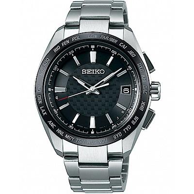 SEIKO精工BRIGHTZ鈦金屬太陽能電波腕錶(SAGZ091J)-灰黑