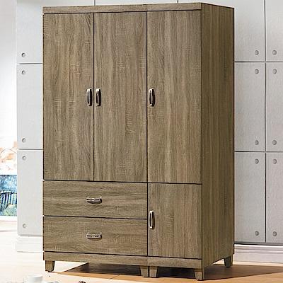 AS-亞爾維斯4x6尺衣櫃-118x55x182cm