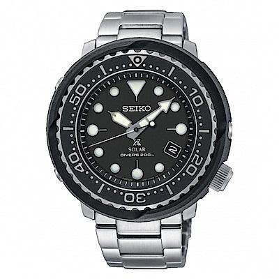 SEIKO PROSPEX 追隨大海太陽能潛水橡膠腕錶/V157-0CX0D/SNE497