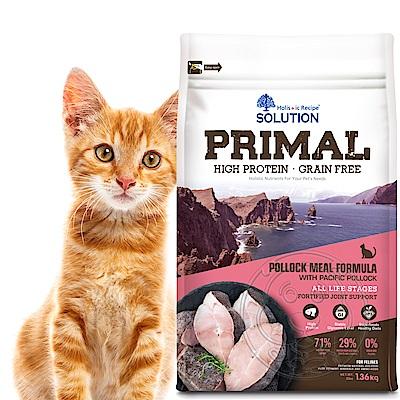新耐吉斯SOLUTION》源野高蛋白無穀全齡貓/鱈魚配方-3lb/1.36kg