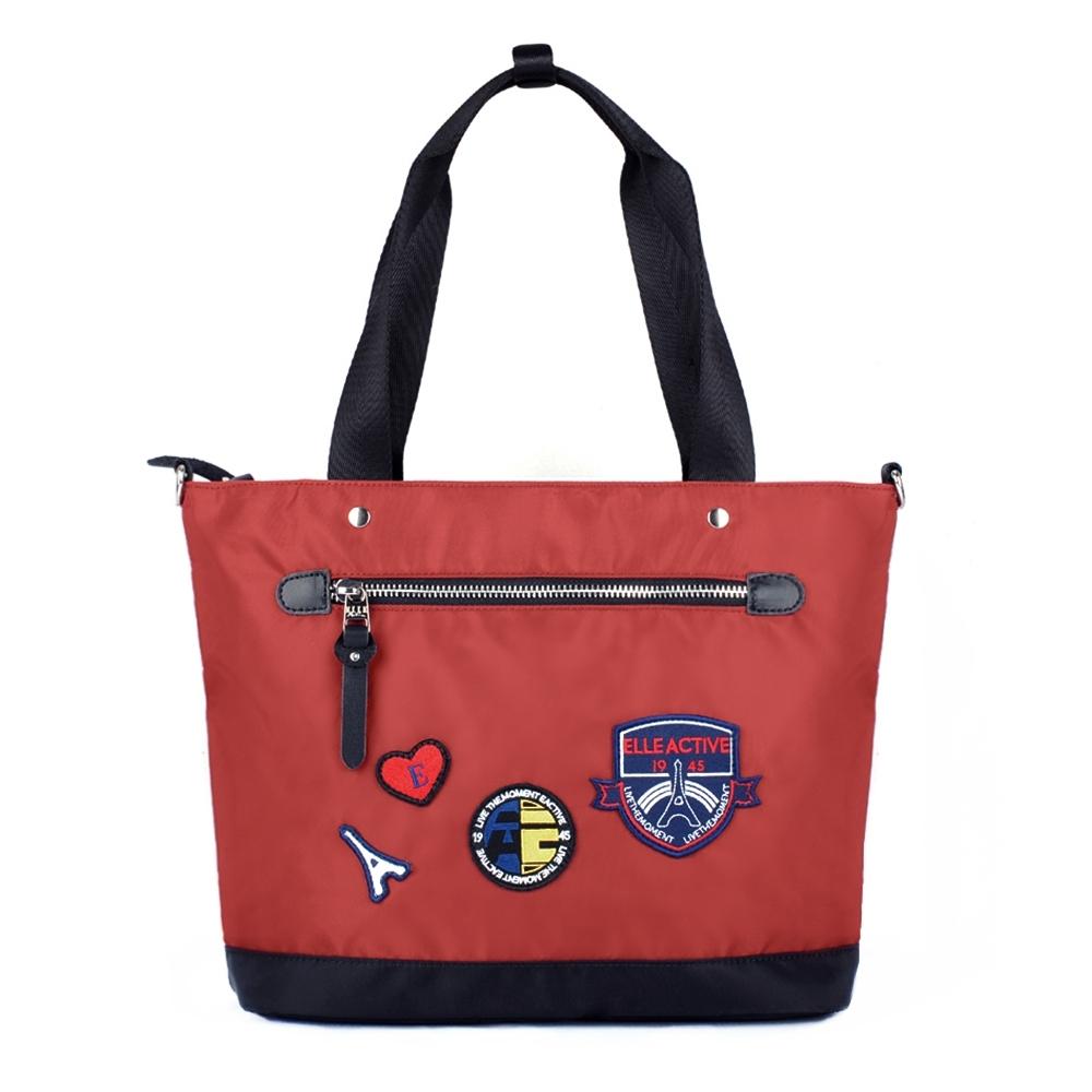 ELLE Active 巴黎遊記系列-多用托特包/肩背包/購物袋-紅色