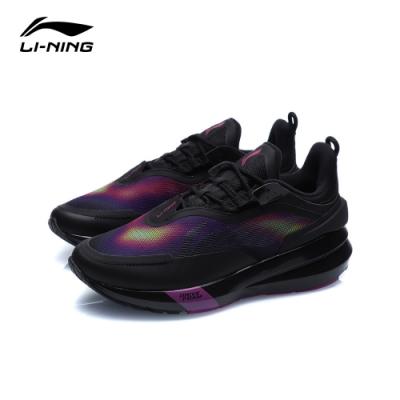 LI-NING 李寧 星耀SHIELD減震系列慢跑鞋-女 標準黑/洋紅紫(ARHQ156-1)