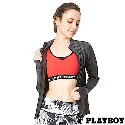 PLAYBOY 透氣網紗立領機能運動瑜珈外套(PL6818001)