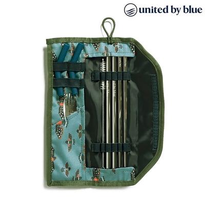 United by Blue 防潑水餐具收納包組 Printed Utensil Kit 814-038 (印花款)|印花淺藍