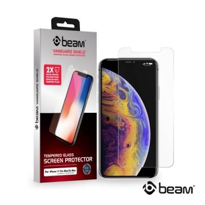 【BEAM】 iPhone 11 Pro Max 透明耐衝擊鋼化玻璃保護貼