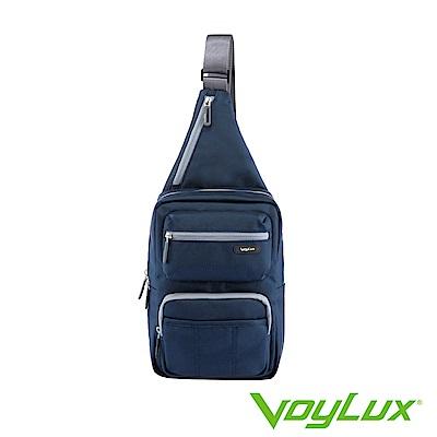 VoyLux 伯勒仕- 魔術收摺系列粗丹尼跨身直式肩背包-藍色3684119
