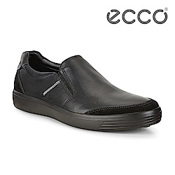 ECCO SOFT 7 M 經典簡約套入式休閒鞋 男-黑