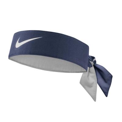 NIKE TENNIS 網球頭帶-髮帶 慢跑 路跑 有氧 瑜珈 DRI-FIT NTN00401OS 丈青白