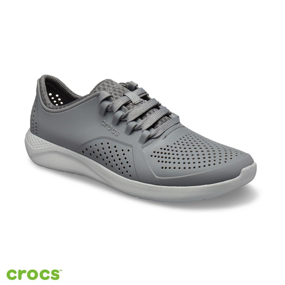 Crocs 卡駱馳 (男鞋) LiteRide徒步繫帶鞋 204967-01W