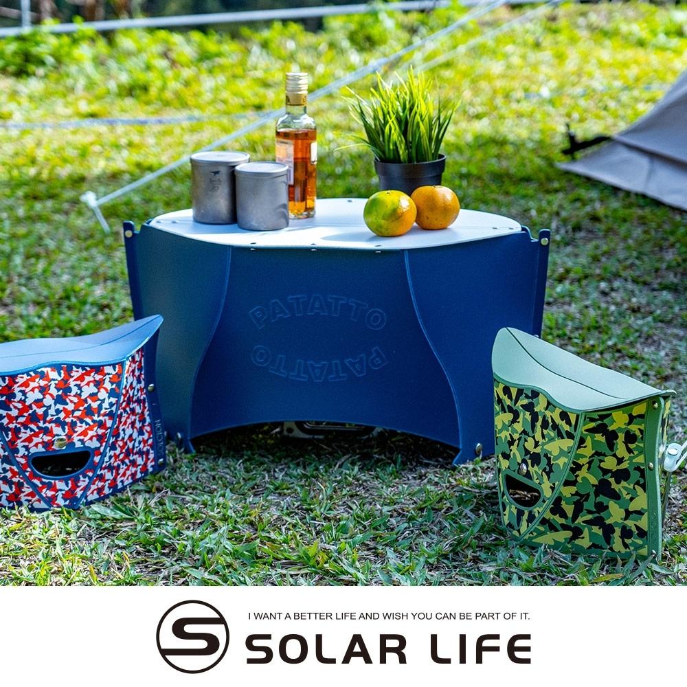 日本PATATTO 可攜式輕量薄型露營摺疊桌(小) 附收納袋.PATATOO桌