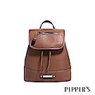 PEPPER`S Ellie 羊皮迷你後背包 - 咖啡棕