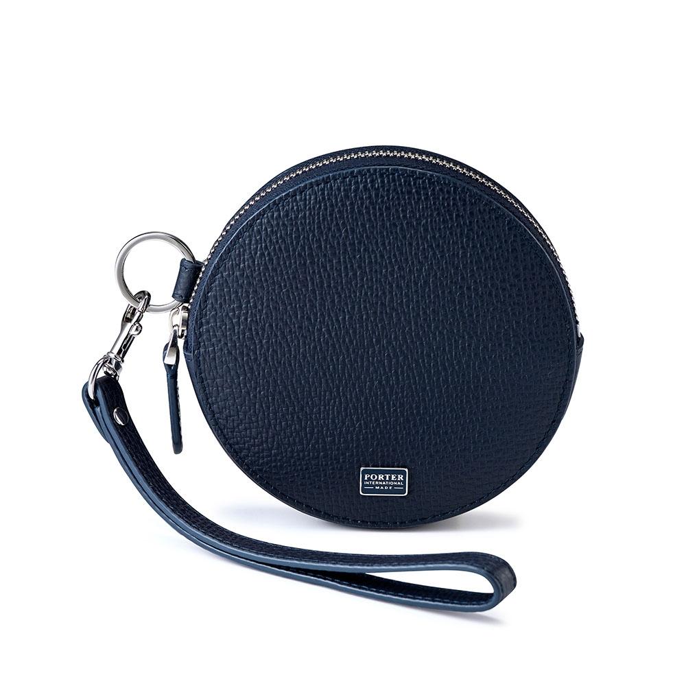 PORTER - 自信魅力REGAL圓形頸掛小袋零錢包 - 深藍