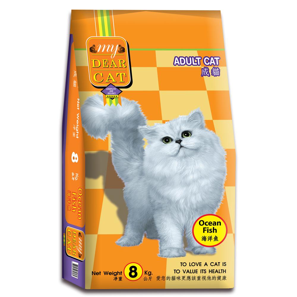 MyDearCat 親密貓貓糧 - 海洋魚口味成貓配方 8kg