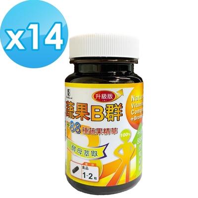 【宏醫生技】全新天然B群88種蔬果升級版30顆/瓶(14瓶團購組)